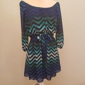 Flirty Sassy Dress with Empire Waist Sz S